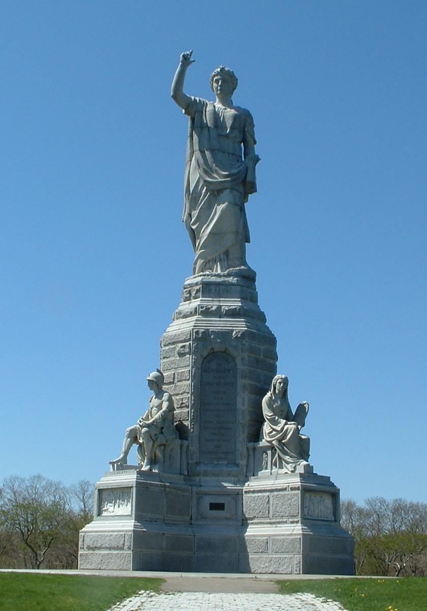 National monument to the Forefathers (Hammatt Billinggs, Plymouth, 1820-1889)