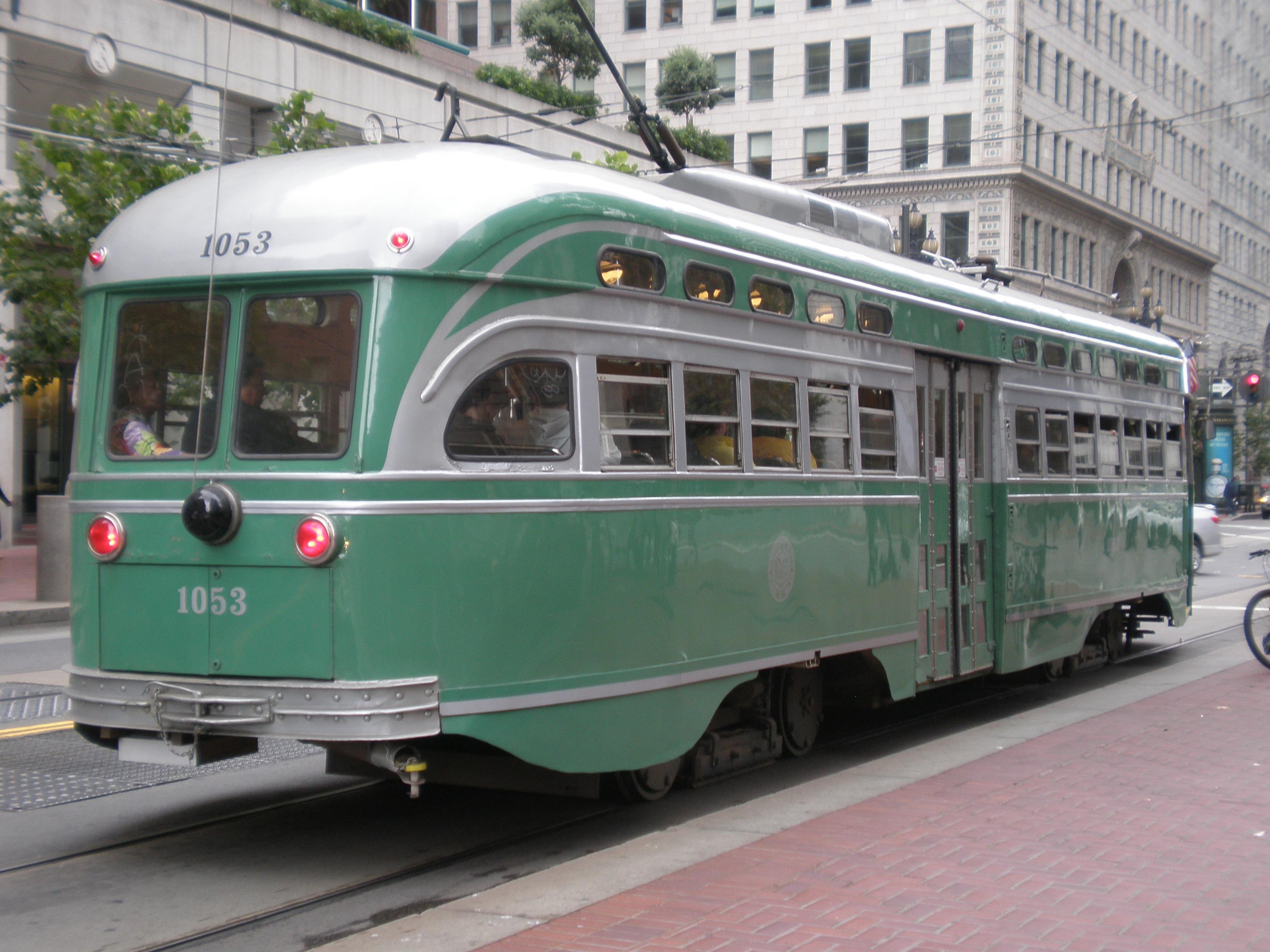 Muni_PCC_streetcar_1053_side.JPG