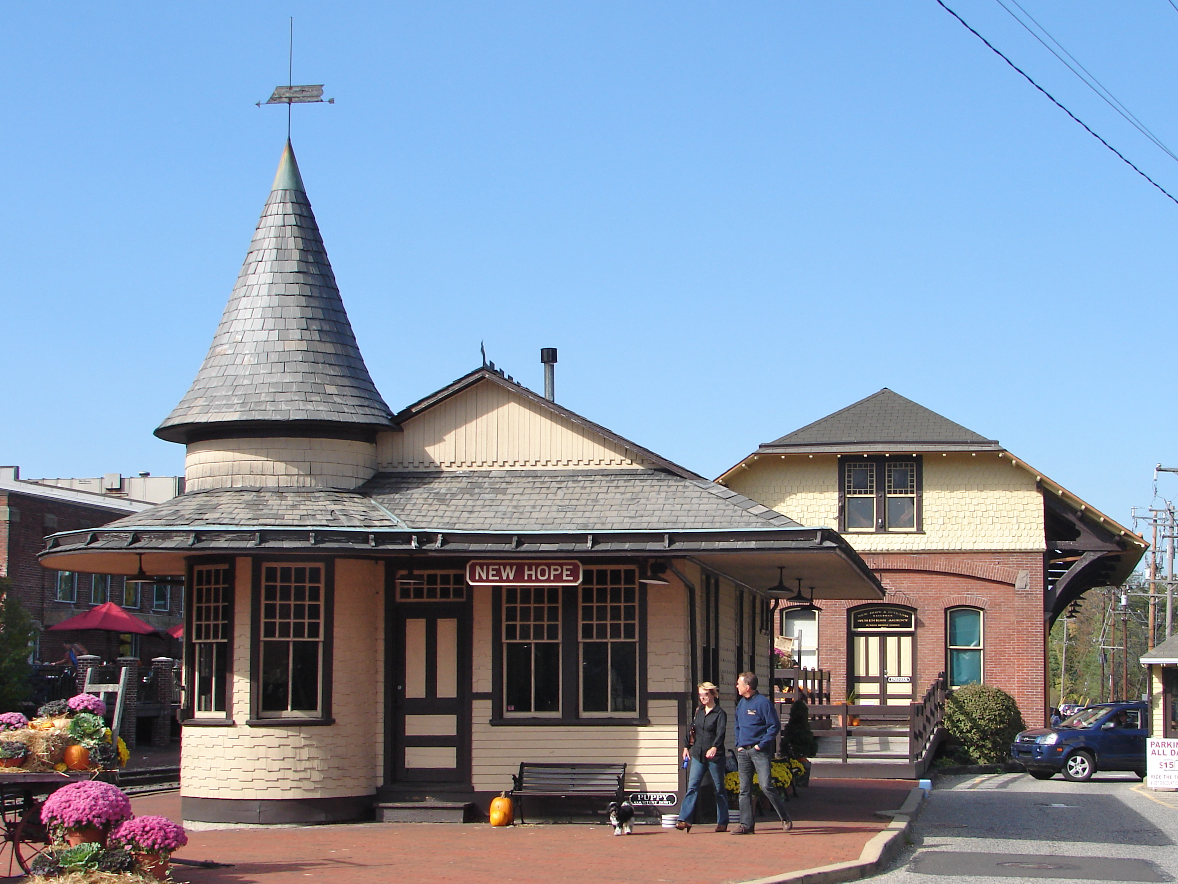 New Hope Station By Smallbones (Own work) [Public domain], via Wikimedia Commons
