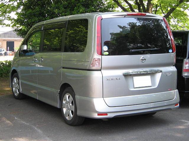 File Nissan Serena Highwaystar C25 Rear Jpg Wikimedia
