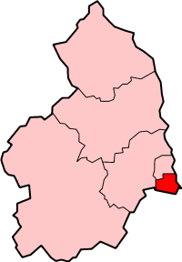 Shown within Northumberland