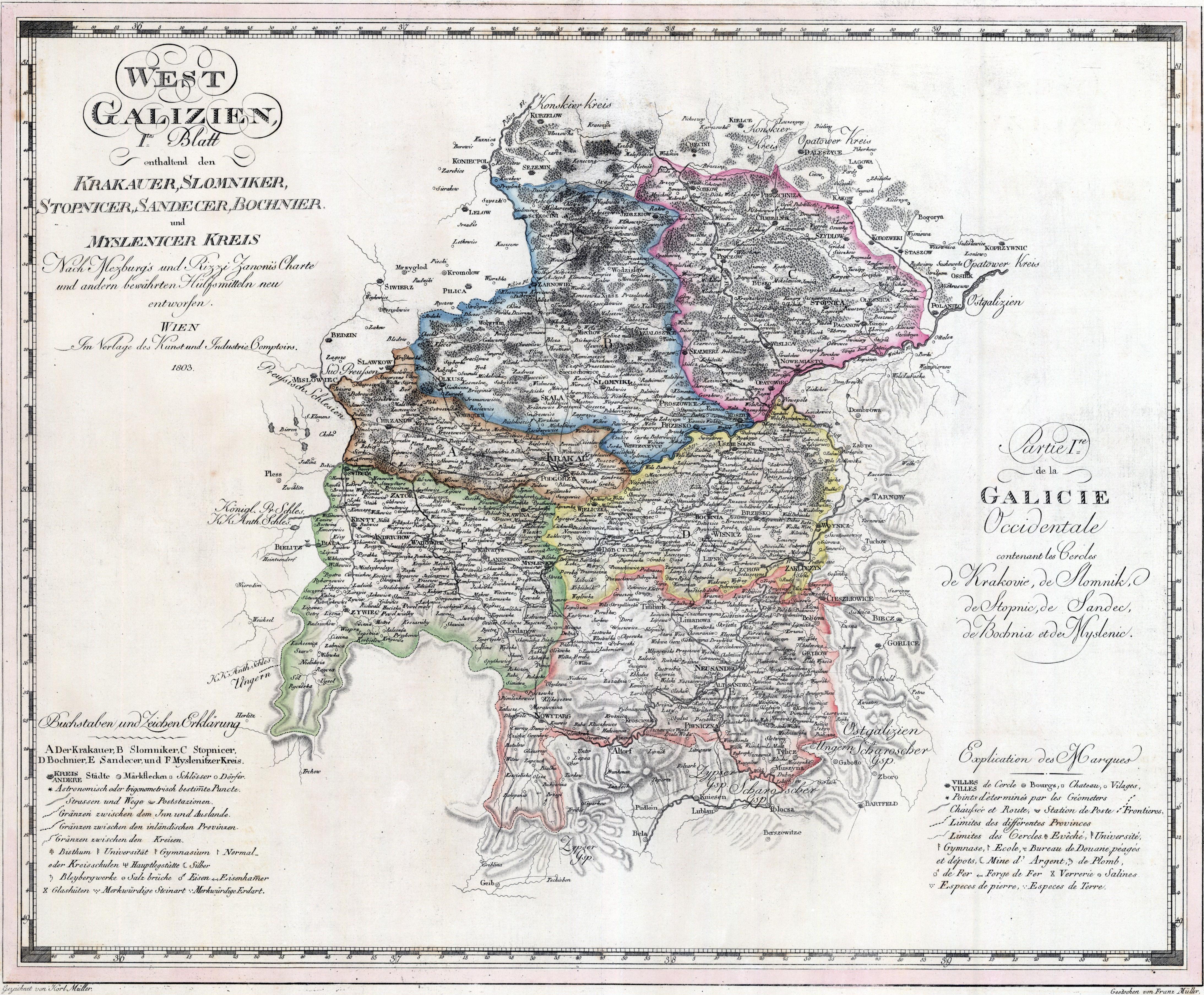 Plik Nowa Galicja Mapa Krakow Slomniki Stopnica Oraz Bochnia