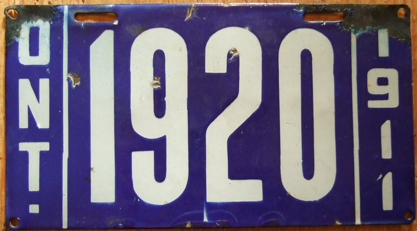 File Ontario 1911 License Plate Ontario S Only Porcelain