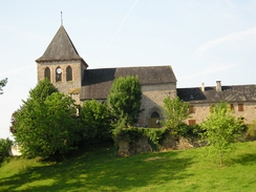 The church in Marcillac-la-Croze