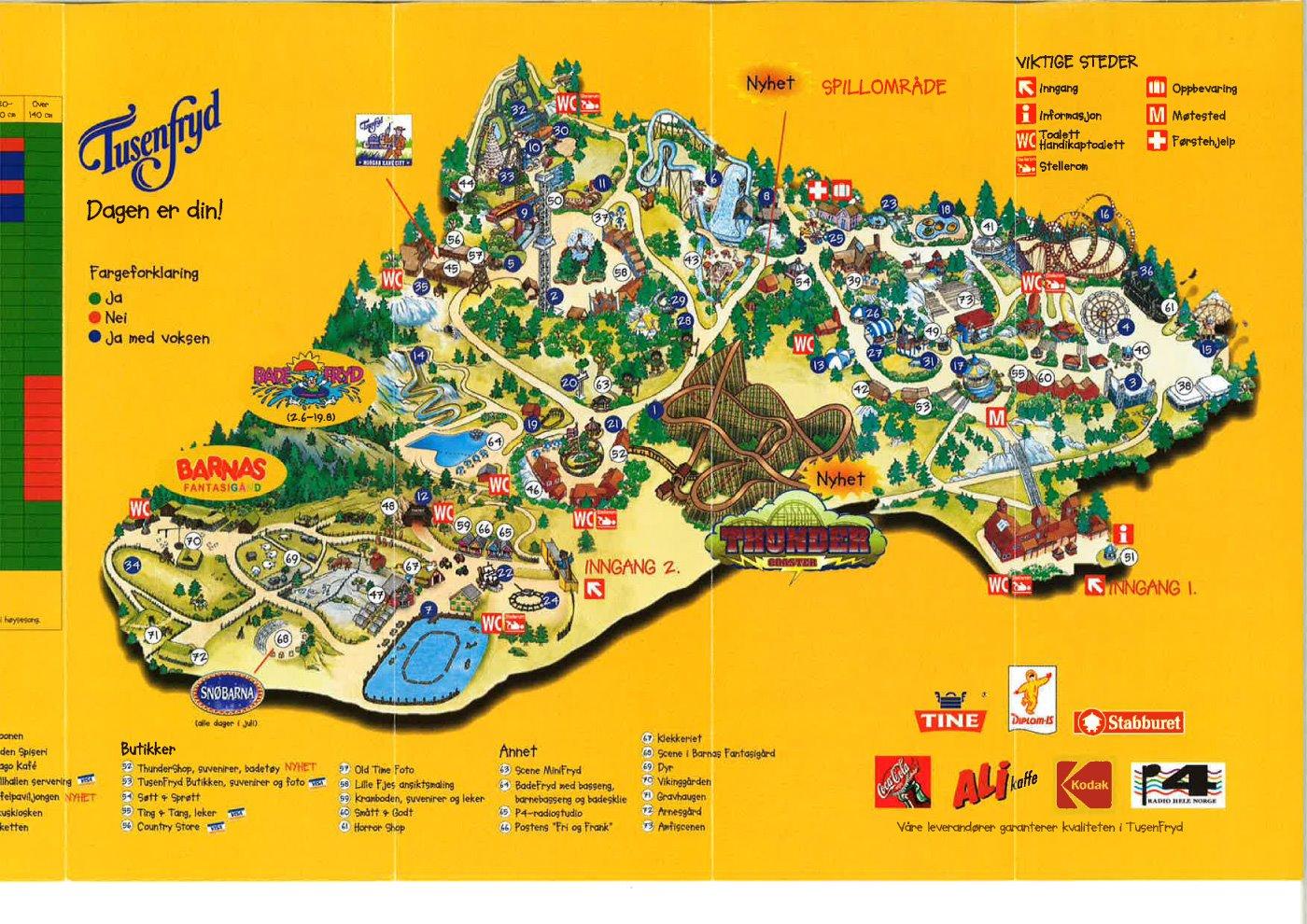 tusenfryd kart File:Parkkart fra TusenFryd (2001).   Wikimedia Commons tusenfryd kart