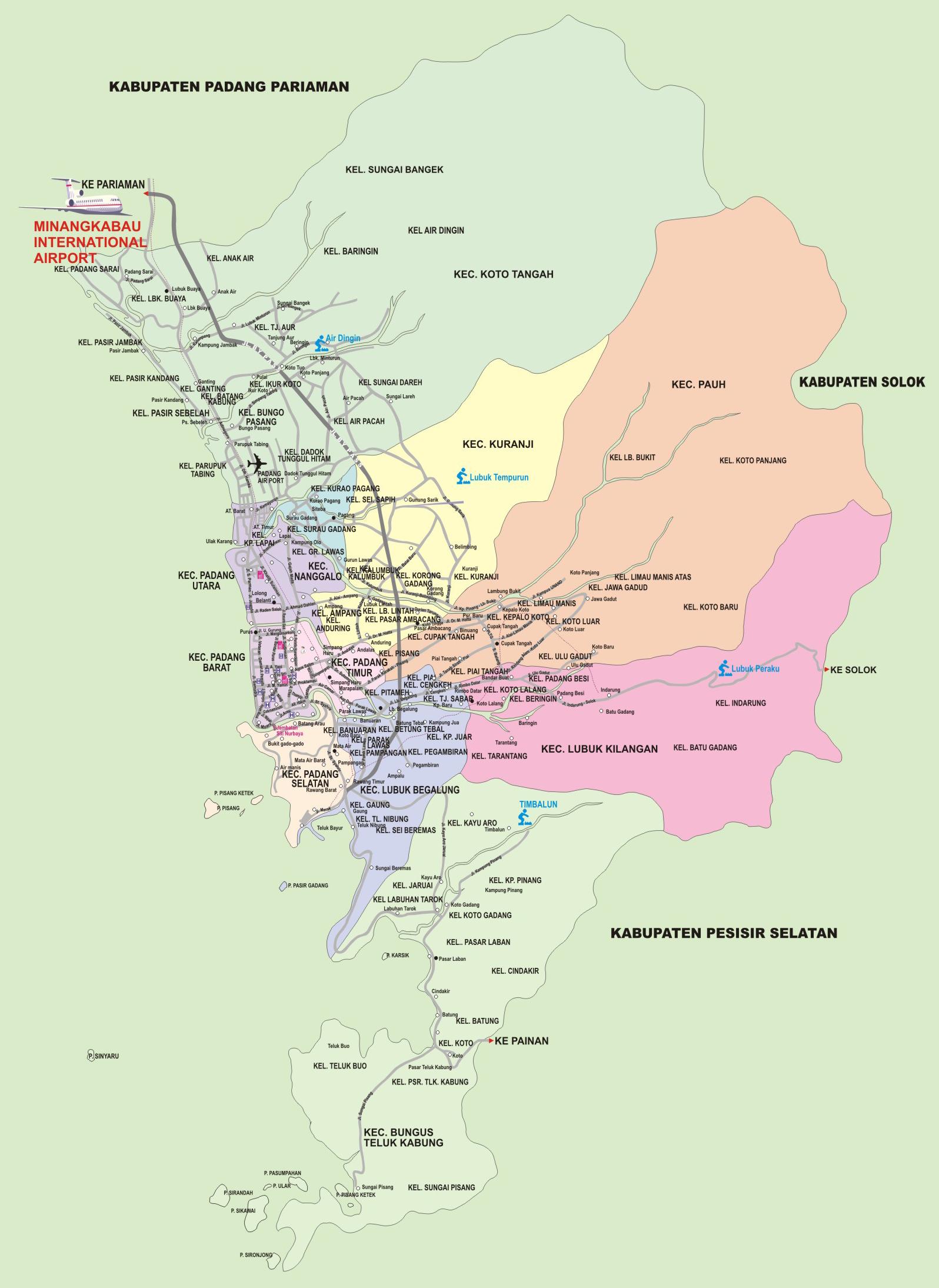 KotaKita.com: Peta Kota Padang