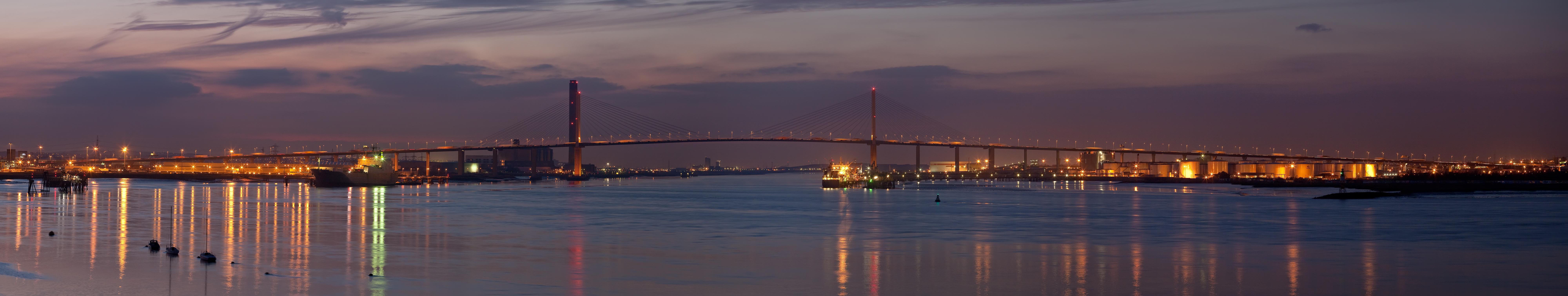 QEII Bridge by night