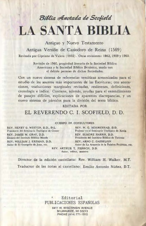 Biblia de Referencia Scofield - Wikipedia, la enciclopedia