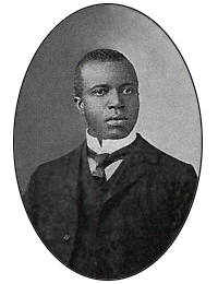 Photograph of ragtime composer Scott Joplin