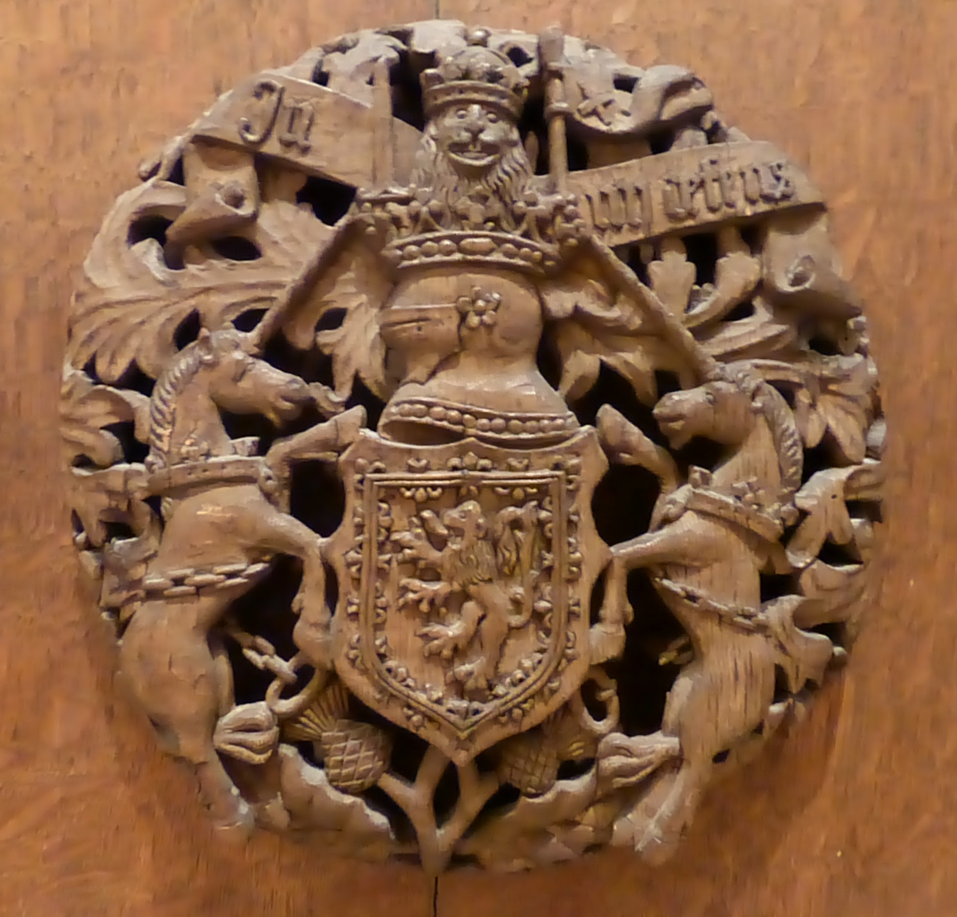 File:Scottish Royal Arms Carving, C.1530s.JPG