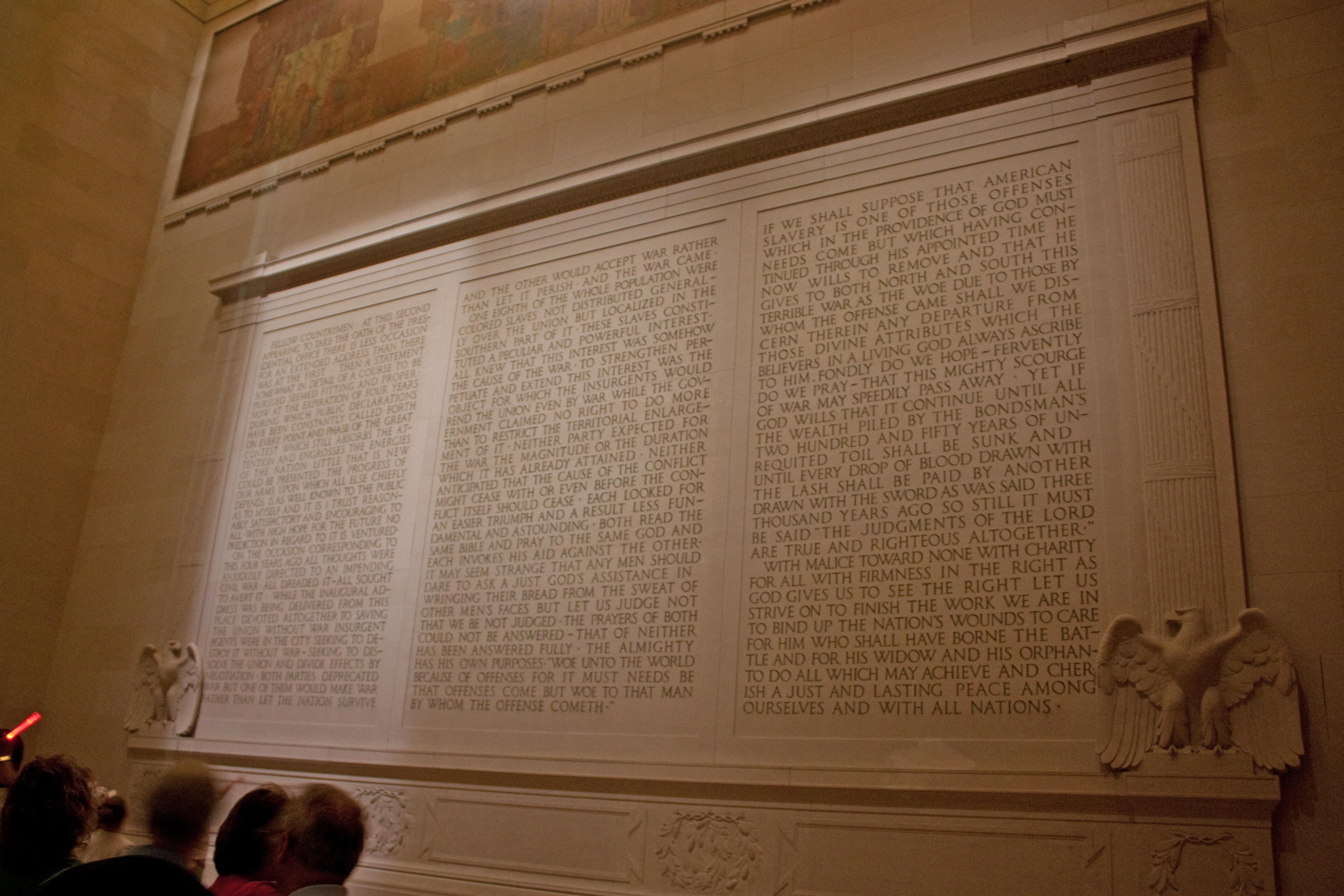 File Second Inauguration Inscription In Lincoln Memorial