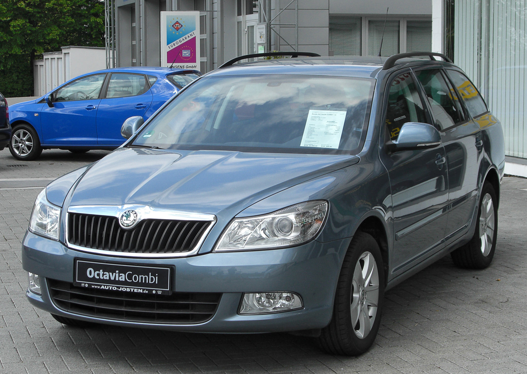 file skoda octavia ii combi 1 4 facelift front. Black Bedroom Furniture Sets. Home Design Ideas