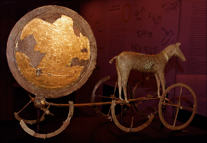 Trundholm sun chariot from the Nordic Bronze Age