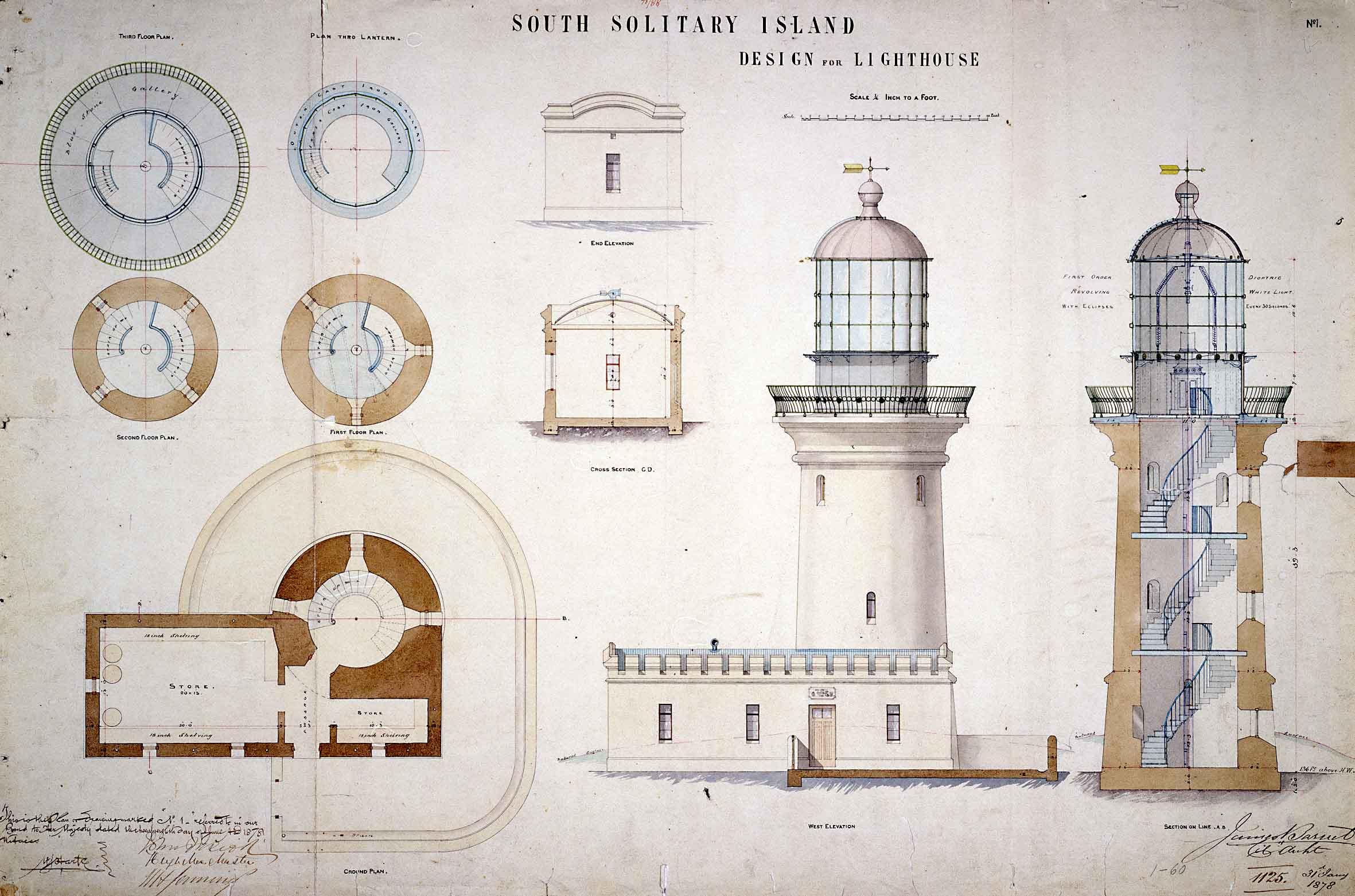 File south solitary island light design for lighthouse for Lighthouse home plans