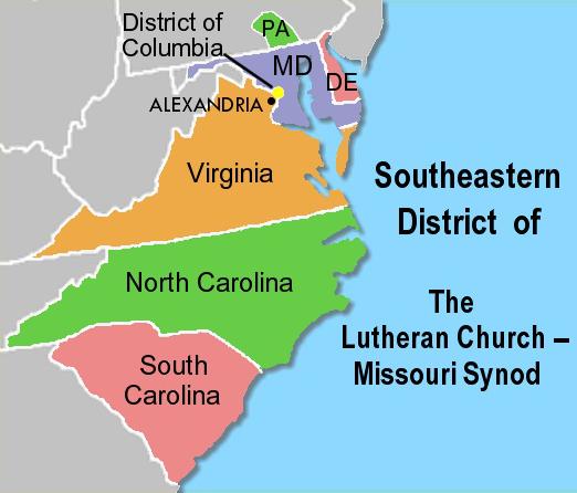Southeastern district lutheran churchmissouri synod wikipedia southeastern district lutheran churchmissouri synod sciox Gallery