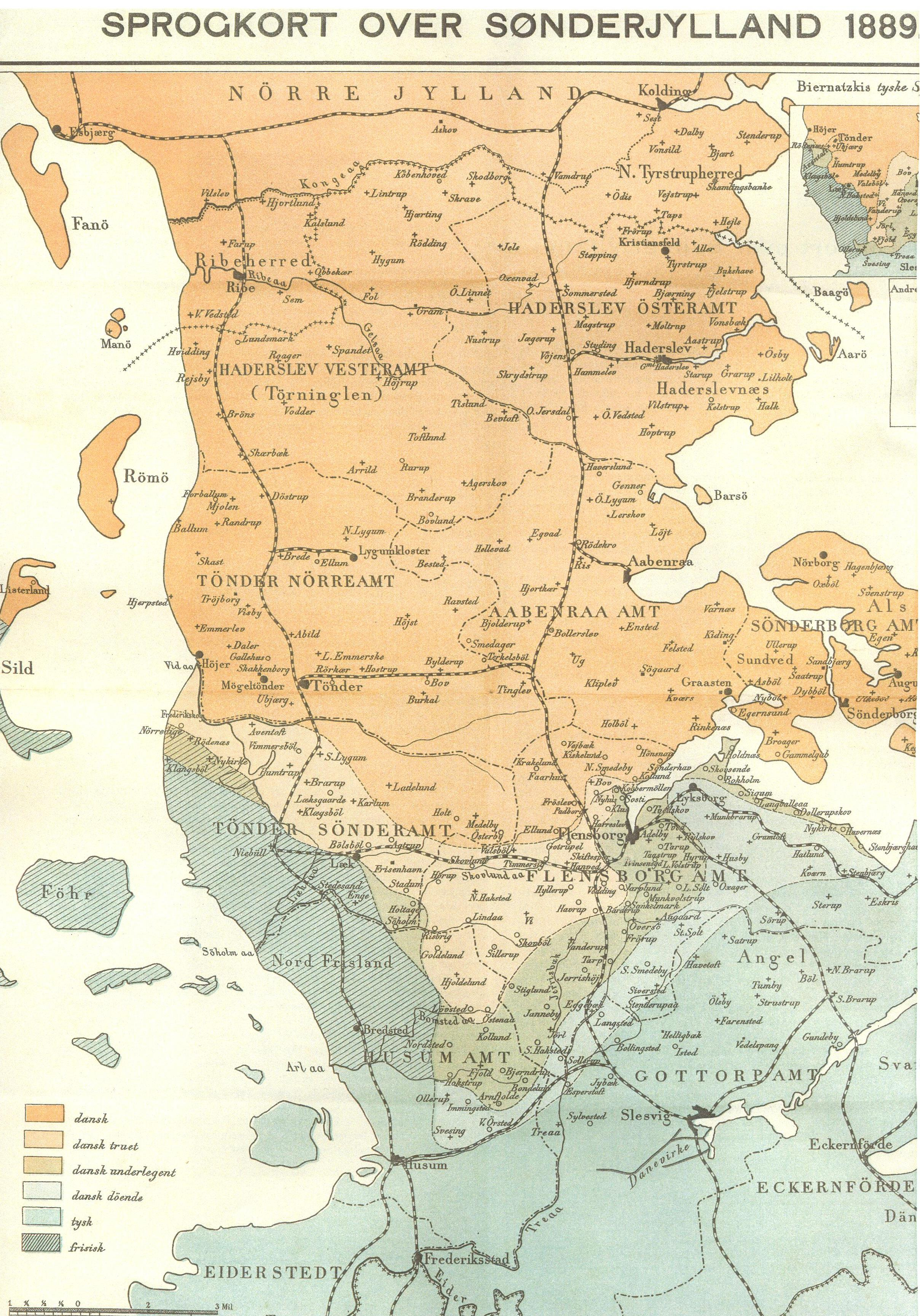 File Sprogkort Sonderjylland 1889 Jpg Wikimedia Commons