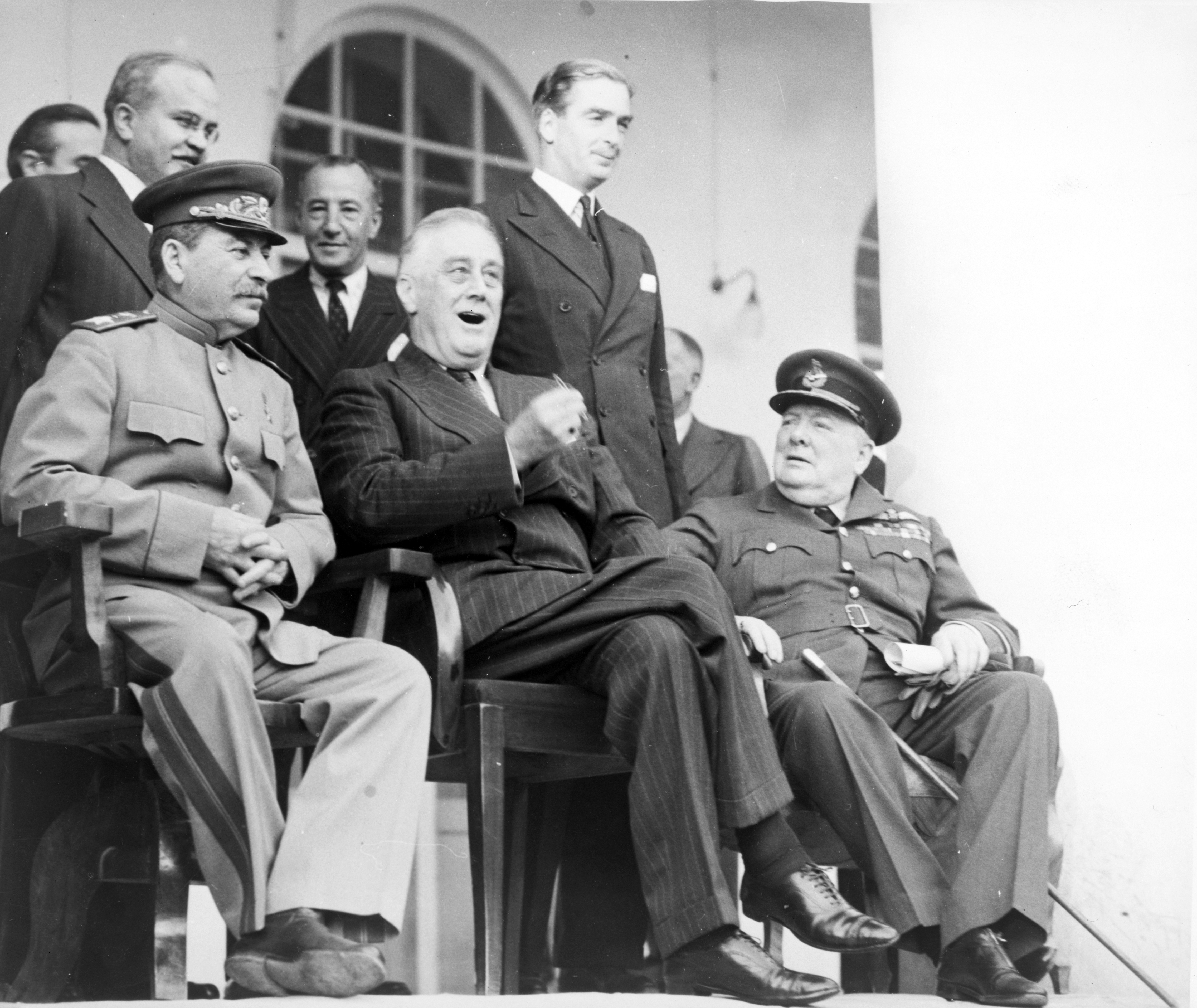 churchill stalin and roosevelt meet in yalta conference
