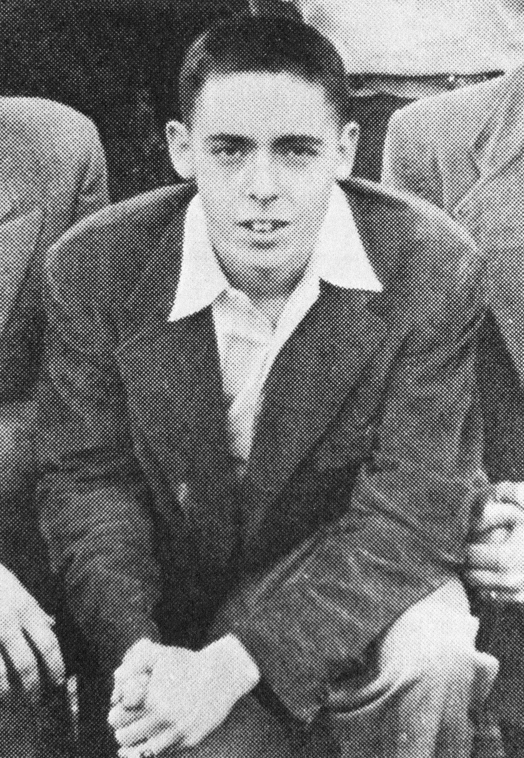 Pynchon in a 1953 yearbook picture. Very few photographs of the author are known to exist, with most dated to the mid-1950s.
