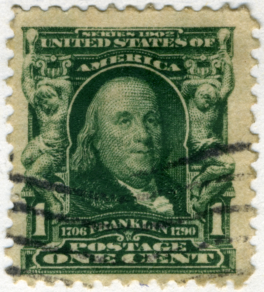 FileUS Stamp 1902 1c Franklin