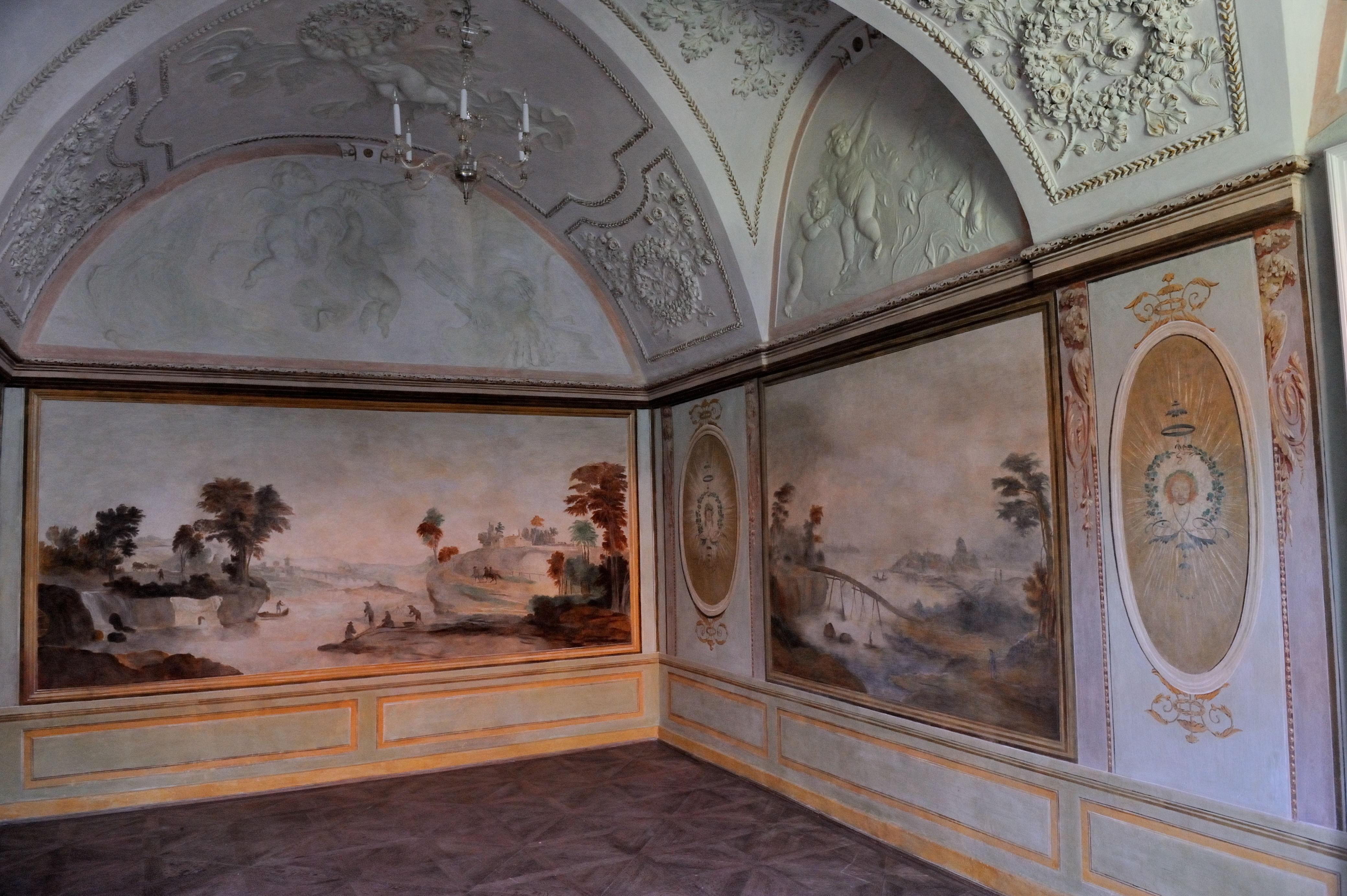 file:uherčice castle-stucco decorationbaldassarre fontana and