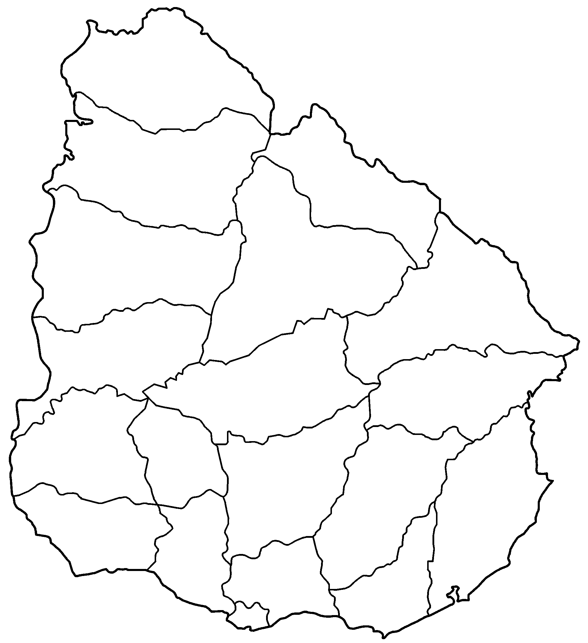 FileUruguay Departments Blankpng Wikimedia Commons - Uruguay map png