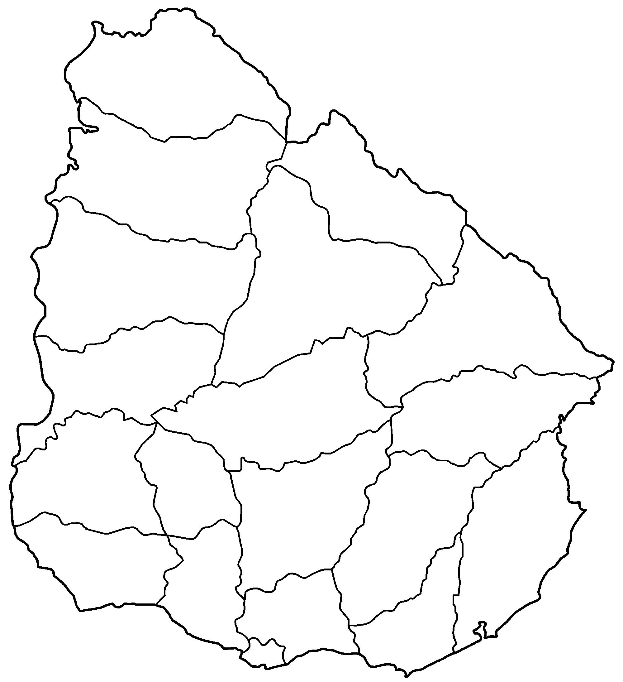 FileUruguay Departments Blankpng Wikimedia Commons - Uruguay blank map