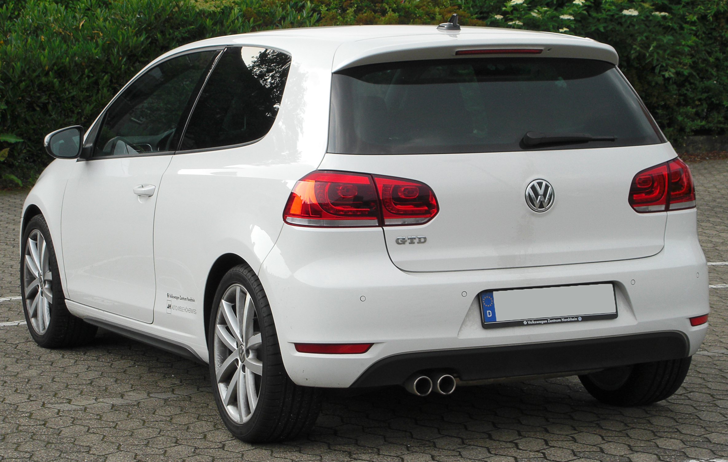file vw golf vi gtd rear wikimedia commons. Black Bedroom Furniture Sets. Home Design Ideas