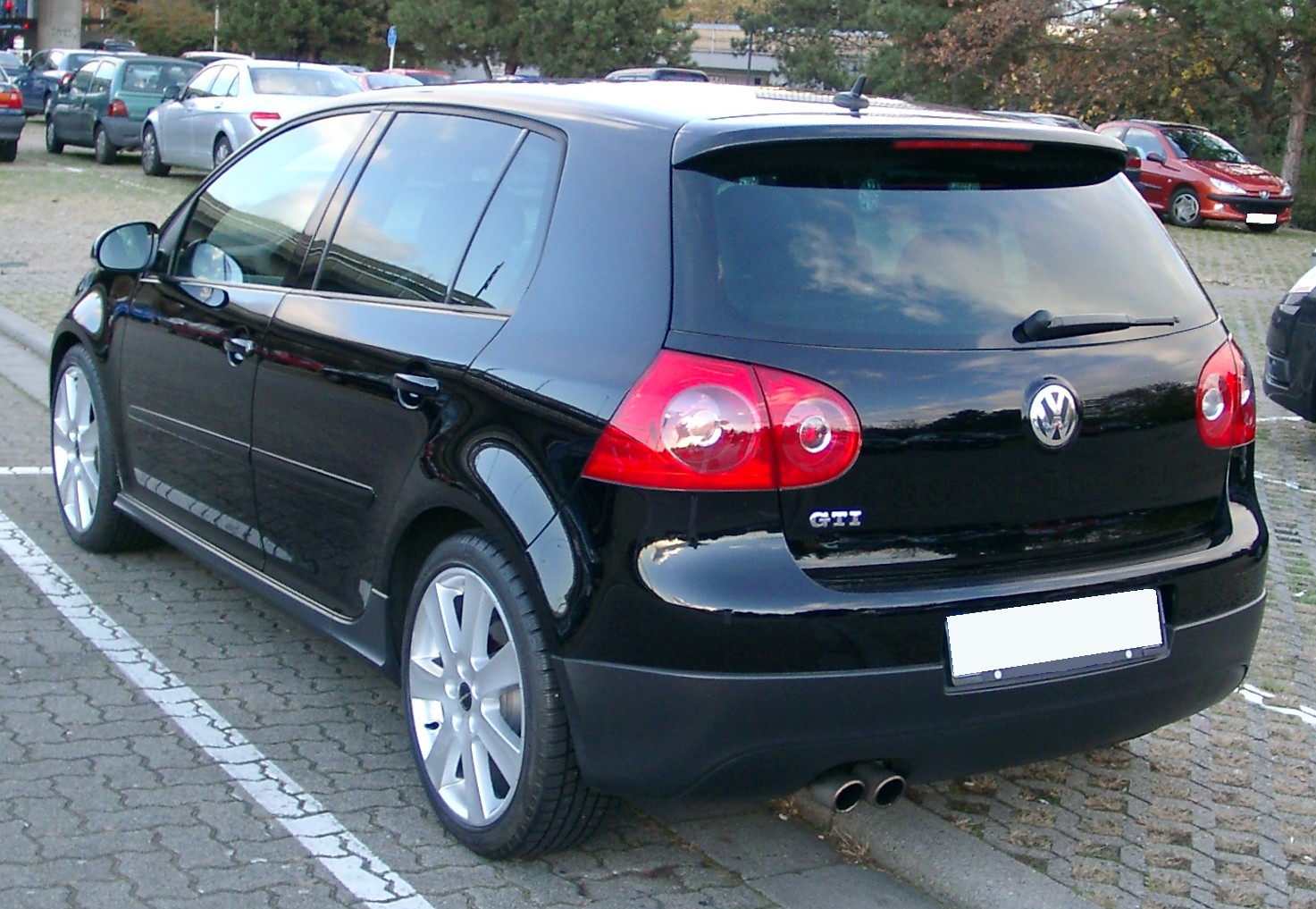 file vw golf v gti rear wikimedia commons. Black Bedroom Furniture Sets. Home Design Ideas