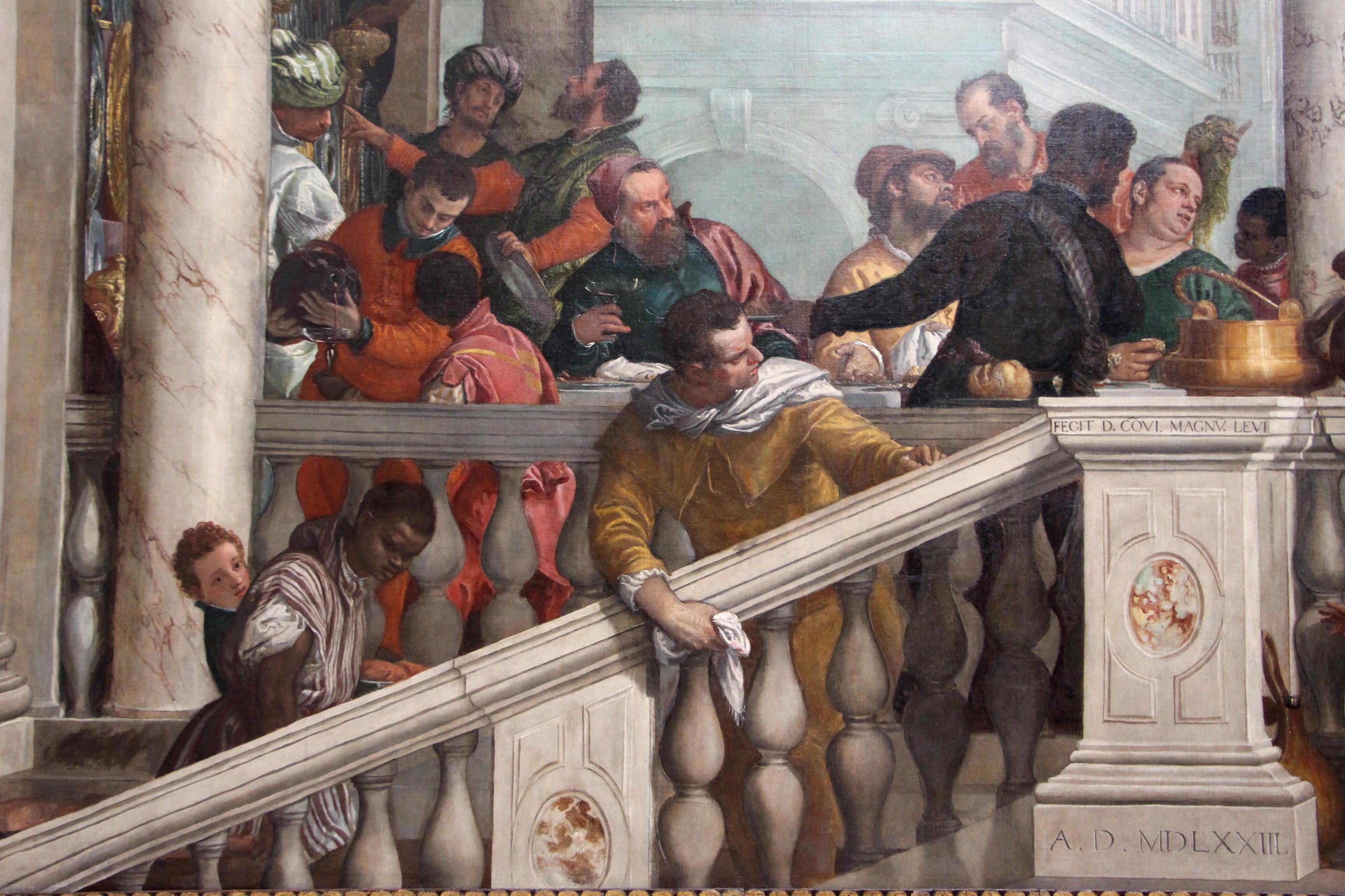 File:Veronese, Convito in casa di Levi, 1573, 02.JPG ...