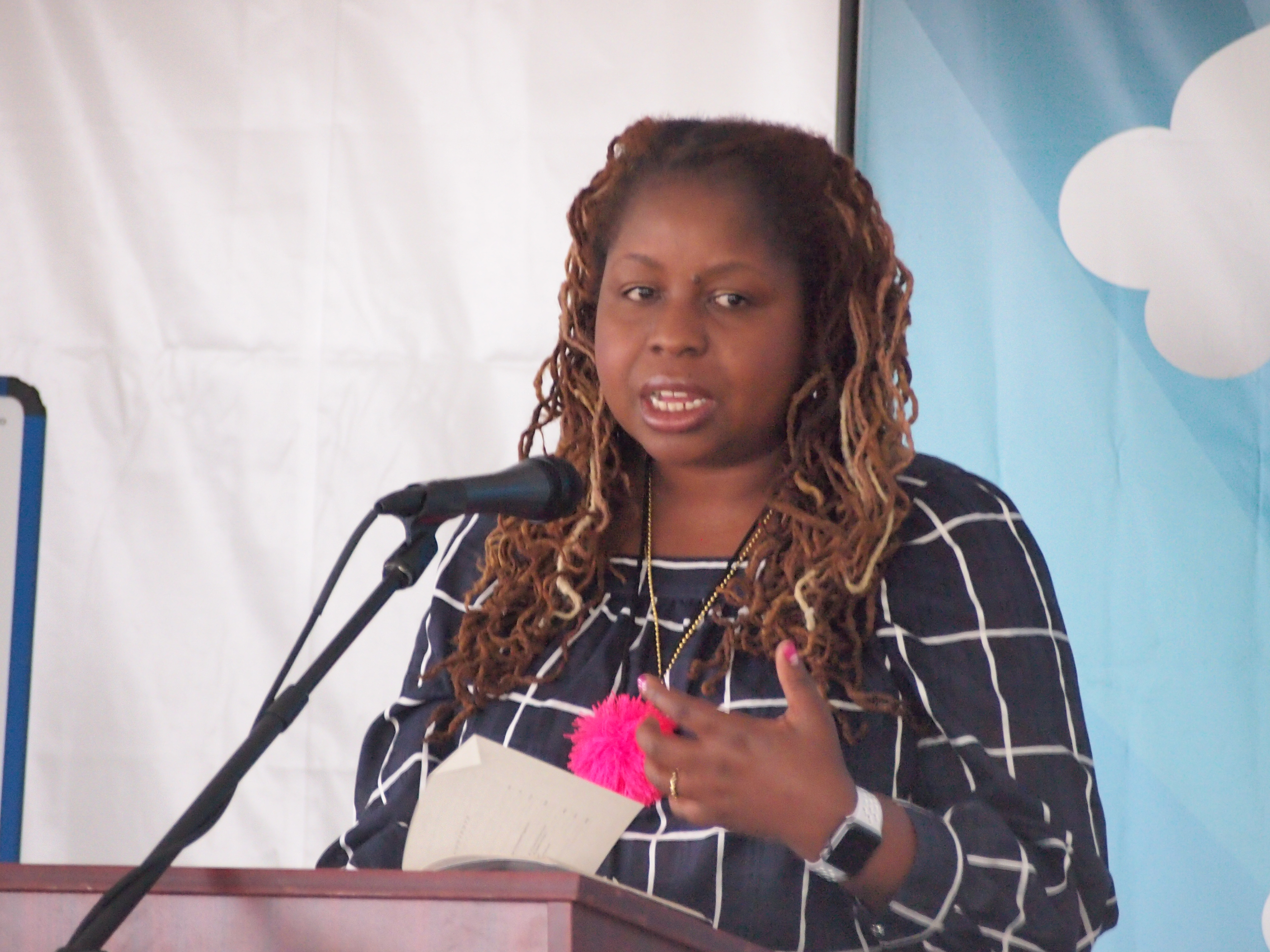 Veronica Chambers reading at the 2017 Gaithersburg Book Festival