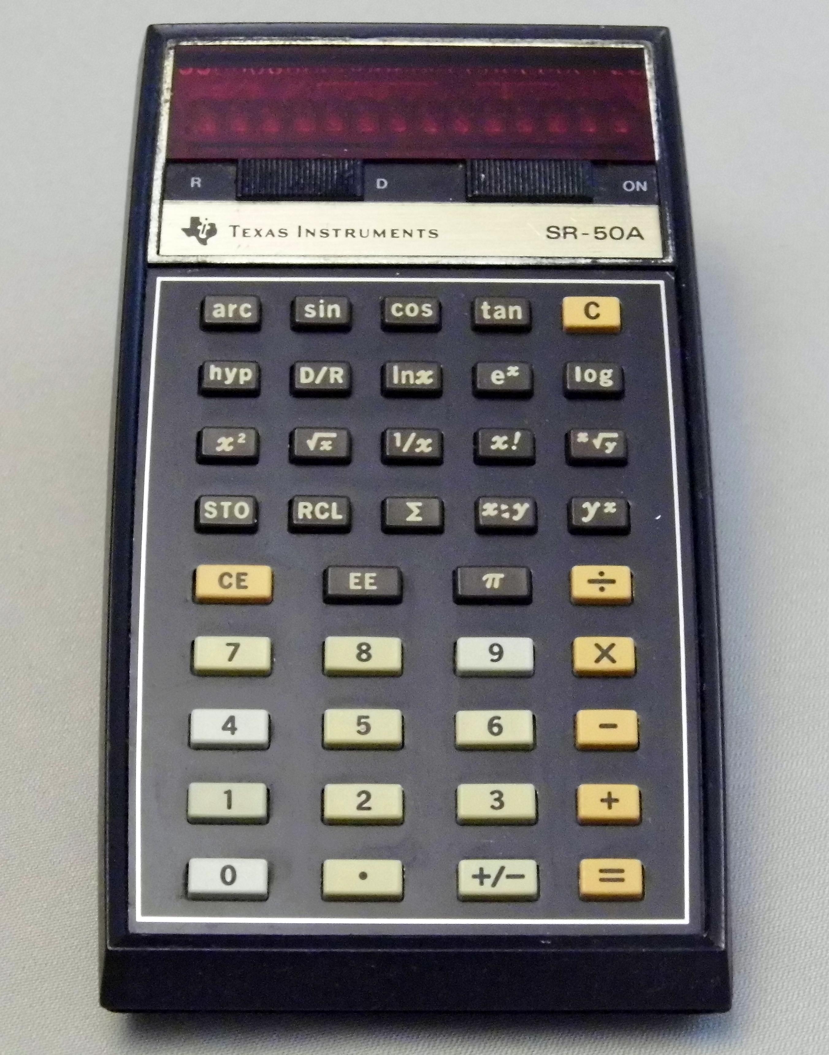File:vintage texas instruments model ti-1250 red led pocket.