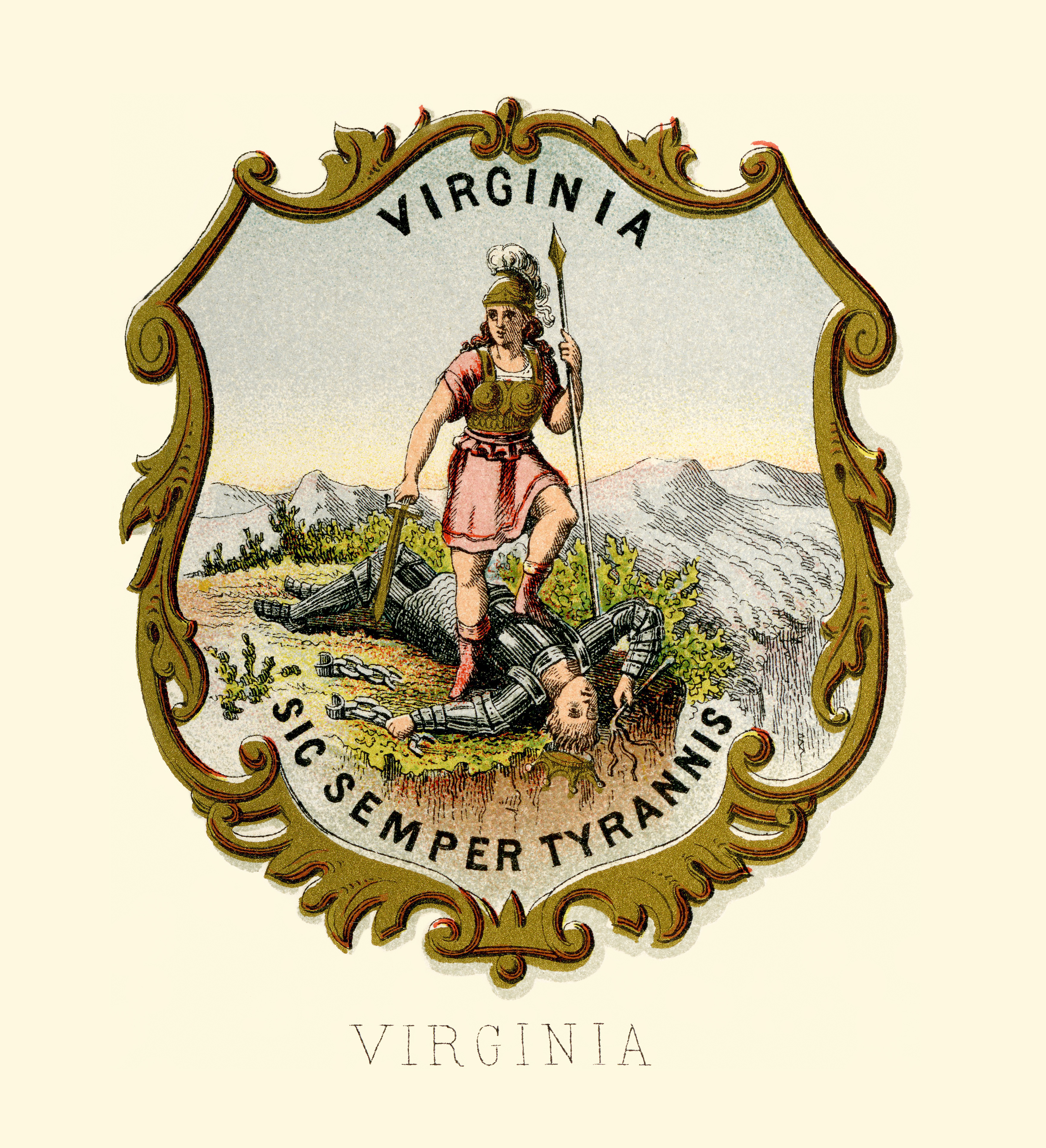 Filevirginia State Coat Of Arms Illustrated 1876g Wikipedia