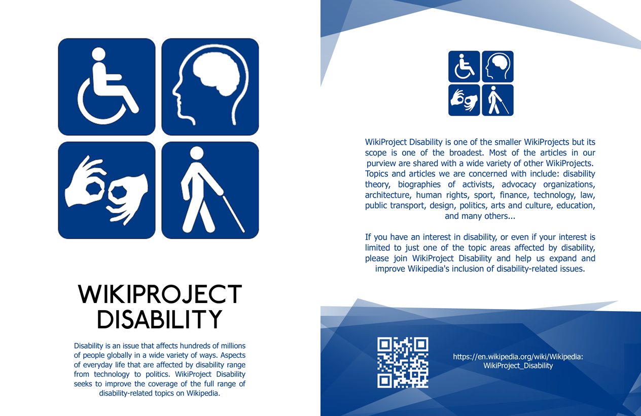 latest version of leaflet, WikiProject Disability leaflet front copy.png