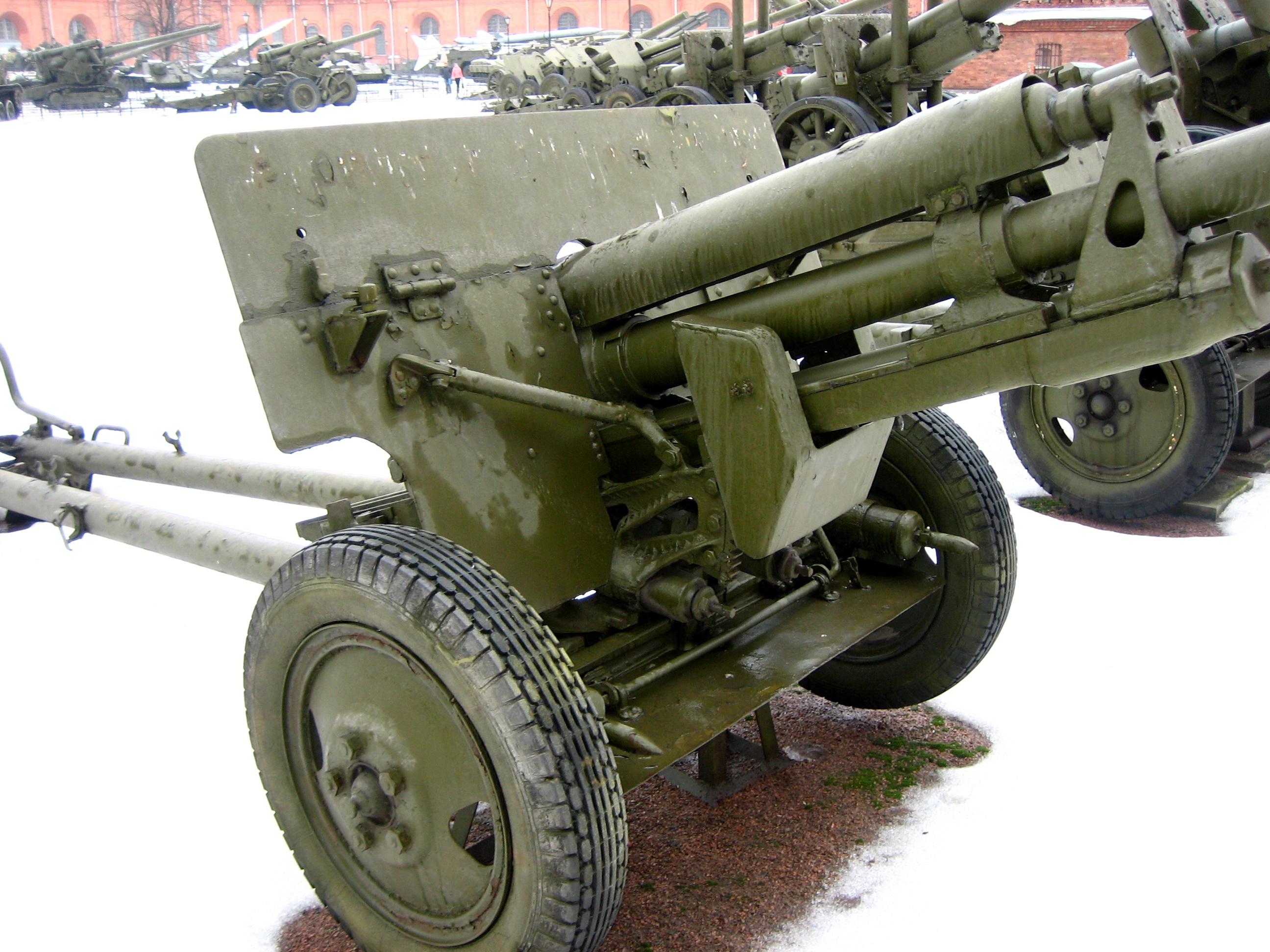 """виньетка """"Под кустом"""". 57мм ЗиС-2"""