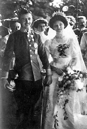 The wedding of then future Emperor-King Charles and Empress-Queen Zita