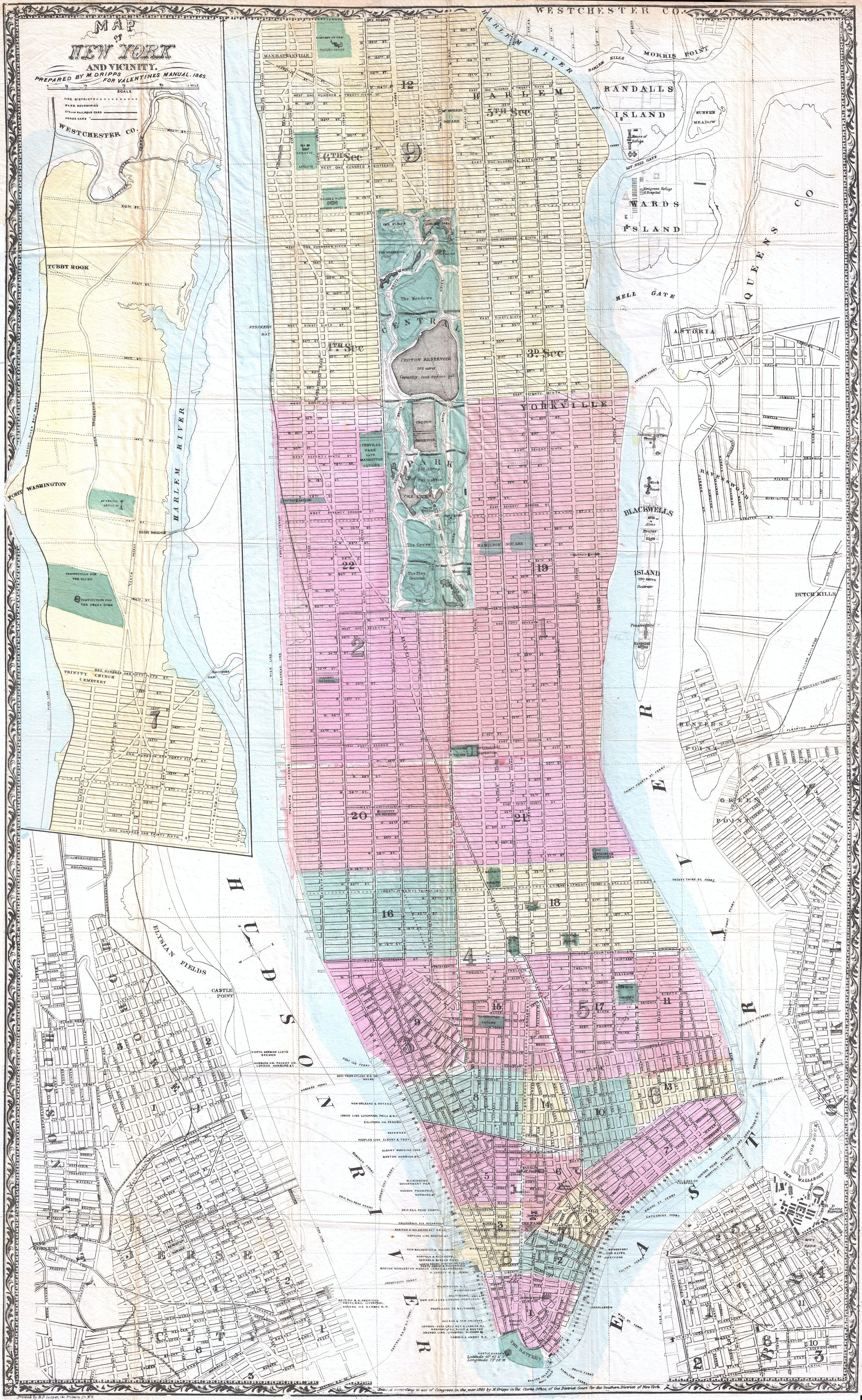 File1865 Dripps Map of New York City  Geographicus  NewYork