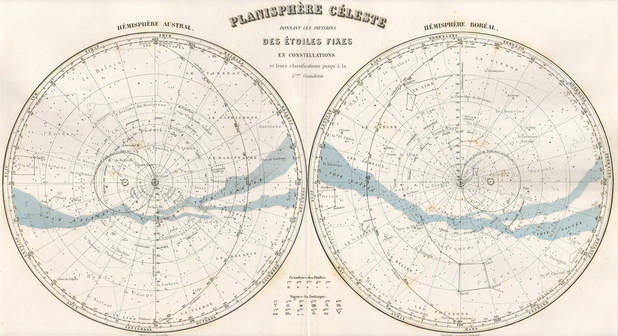file 1878 migeon map of the stars and constellations geographicus planisphereceleste migeon. Black Bedroom Furniture Sets. Home Design Ideas