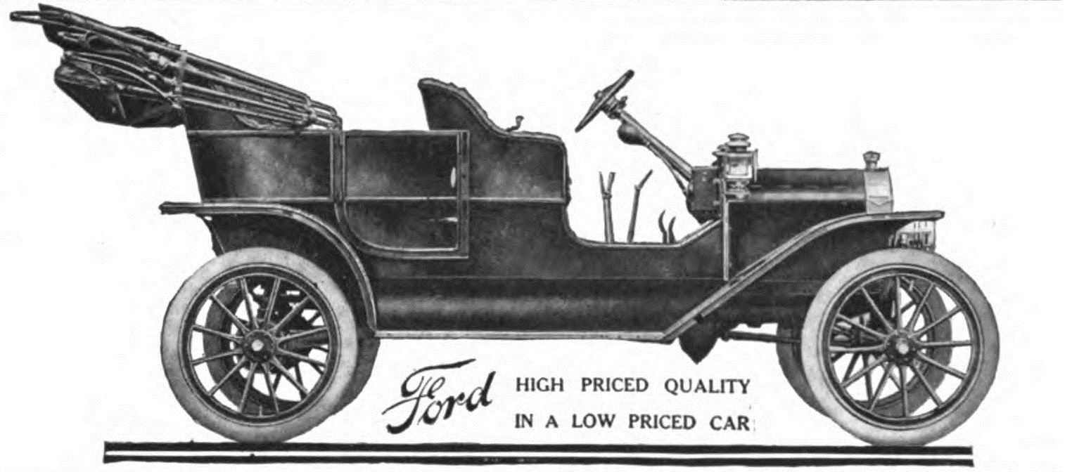 Ford Model T ad - ca 1908