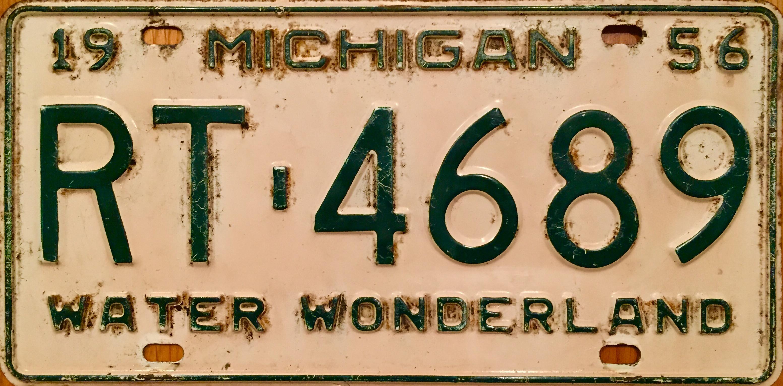 File:1956 Michigan license plate.jpeg - Wikimedia Commons