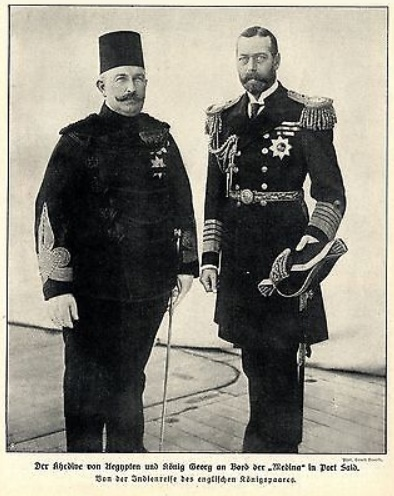 File:Abbas II and George V aboard HMS Medina 1911.jpg