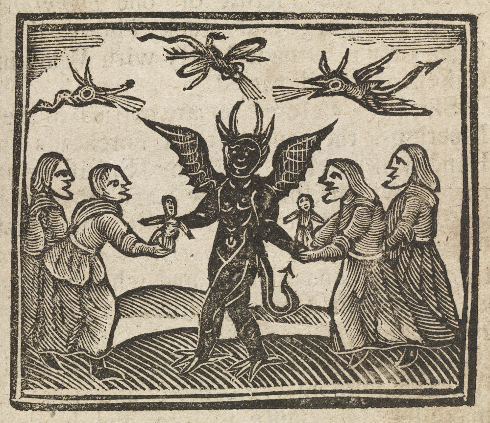 Agnes Sampson and witches with devil