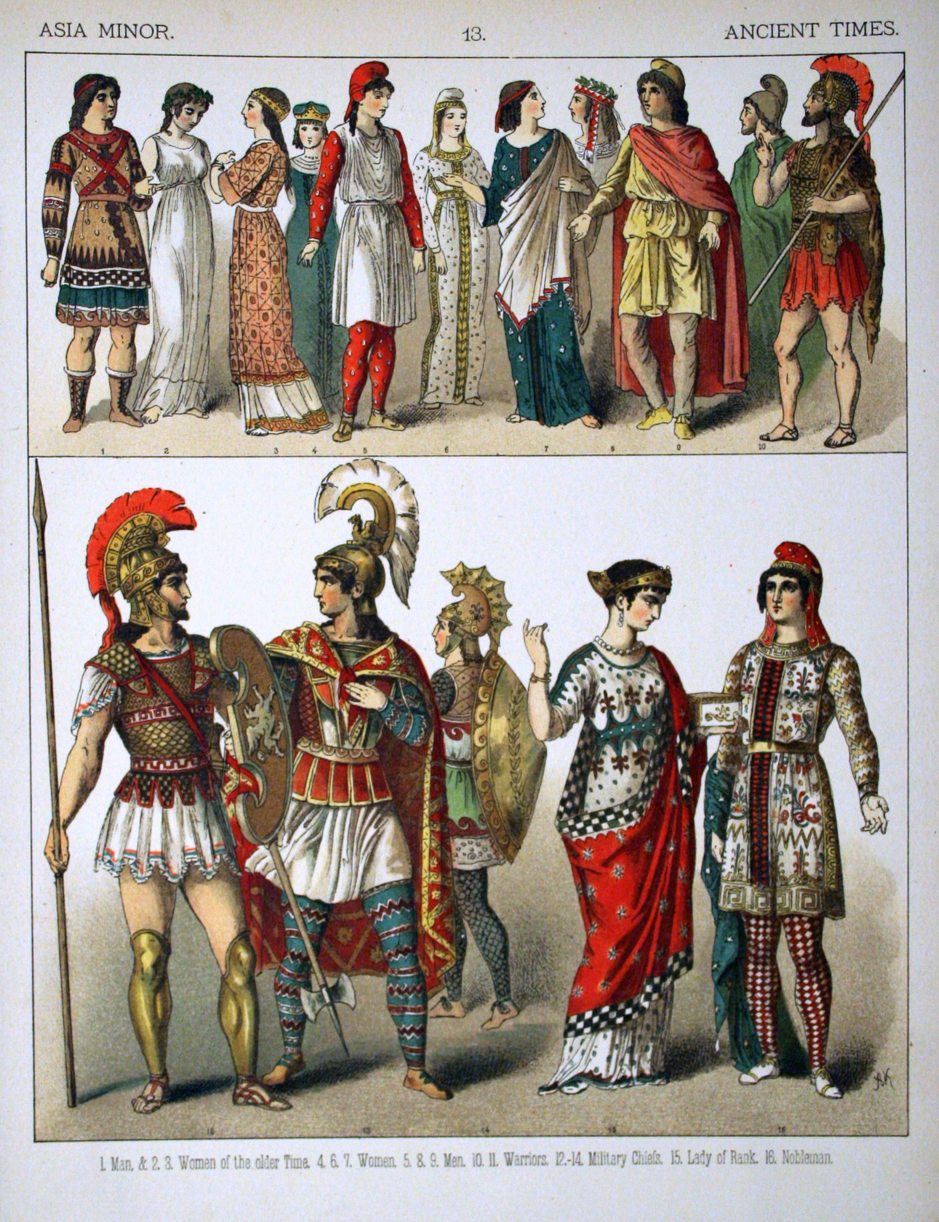 Description Ancient Times, Asia Minor. - 013 - Costumes of All Nations ...