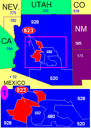 Mexico City Zip Code Map.Area Code 623 Wikipedia