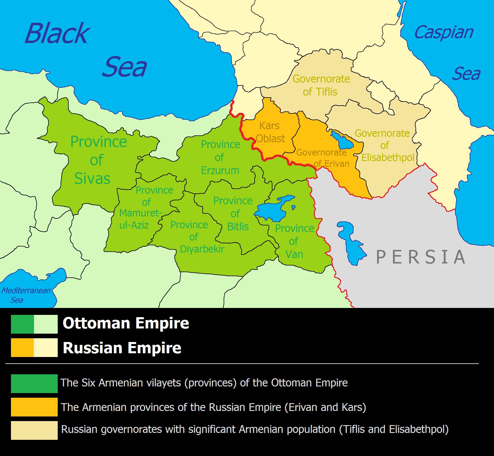 Tsarist Russia Map.Russian Armenia Wikipedia