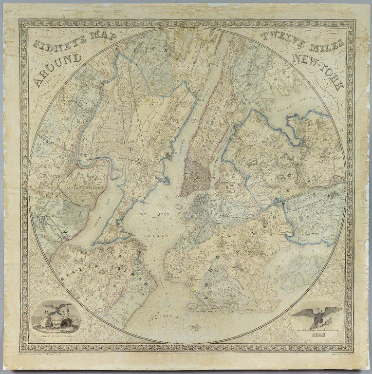 Brooklyn Museum - Sidney%27s Map Twelve Miles Around New York - Norman Friend.jpg