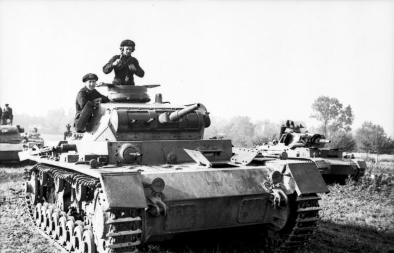 German panzers during the Polish Campaign.
