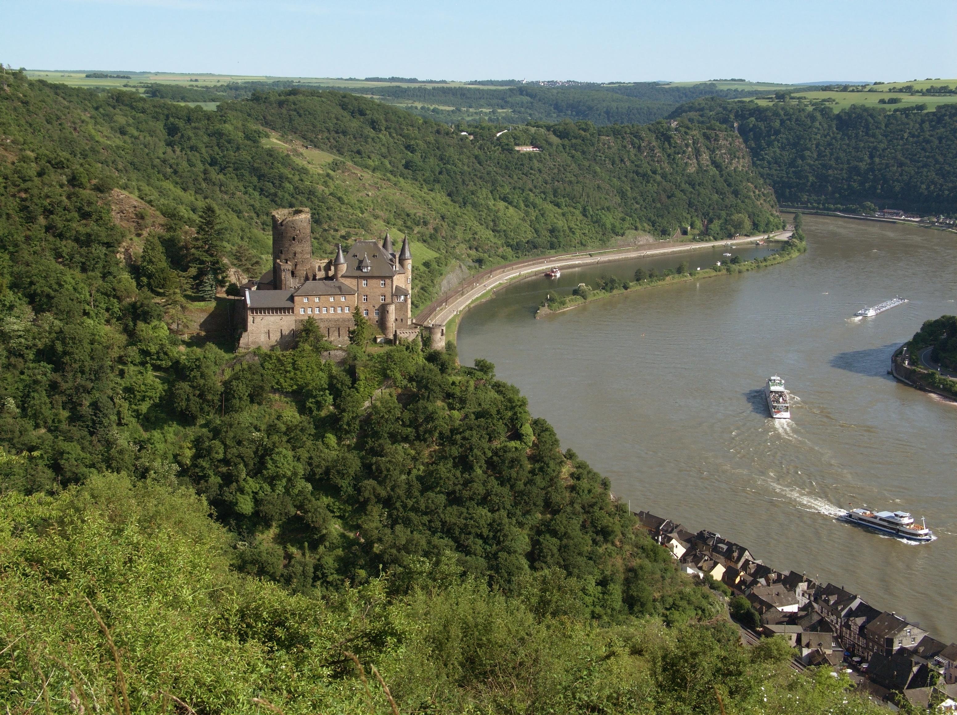 hrad Katz na Rýnu