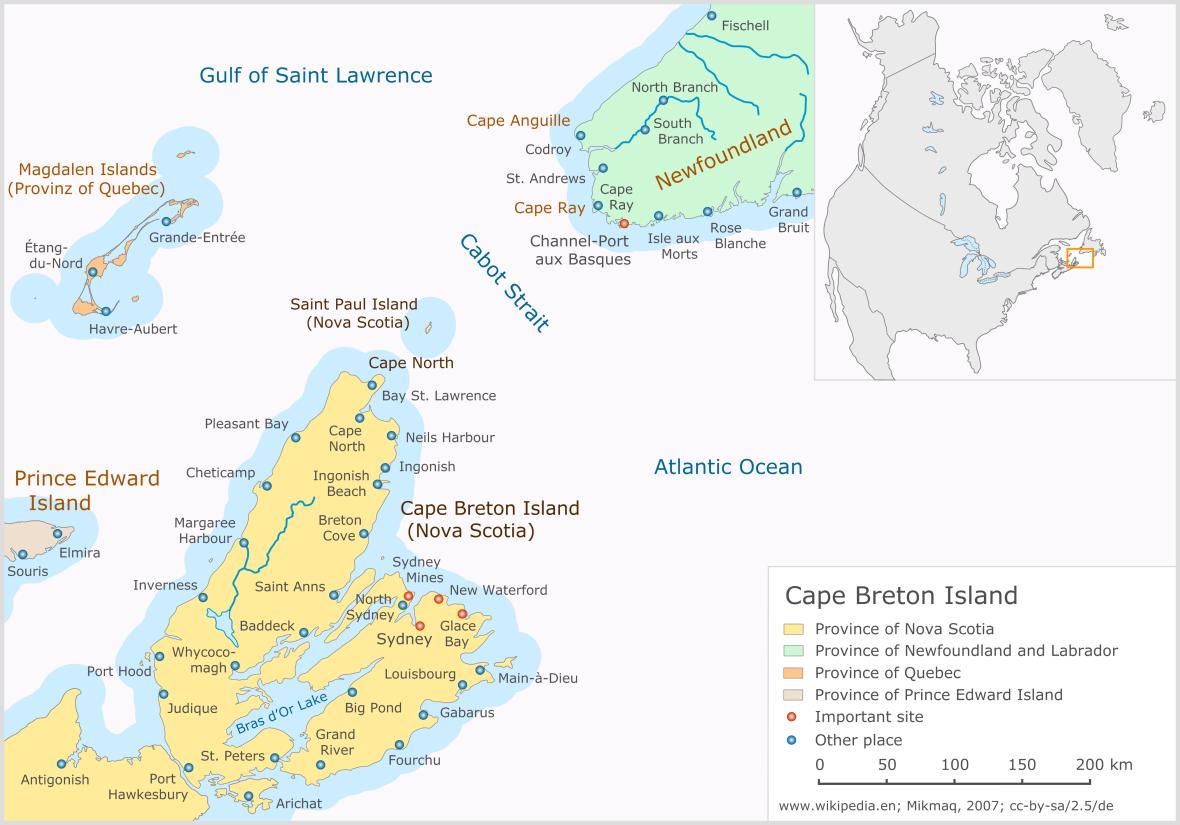 Cape Breton Island Map Canada Cape Breton Island   Wikipedia