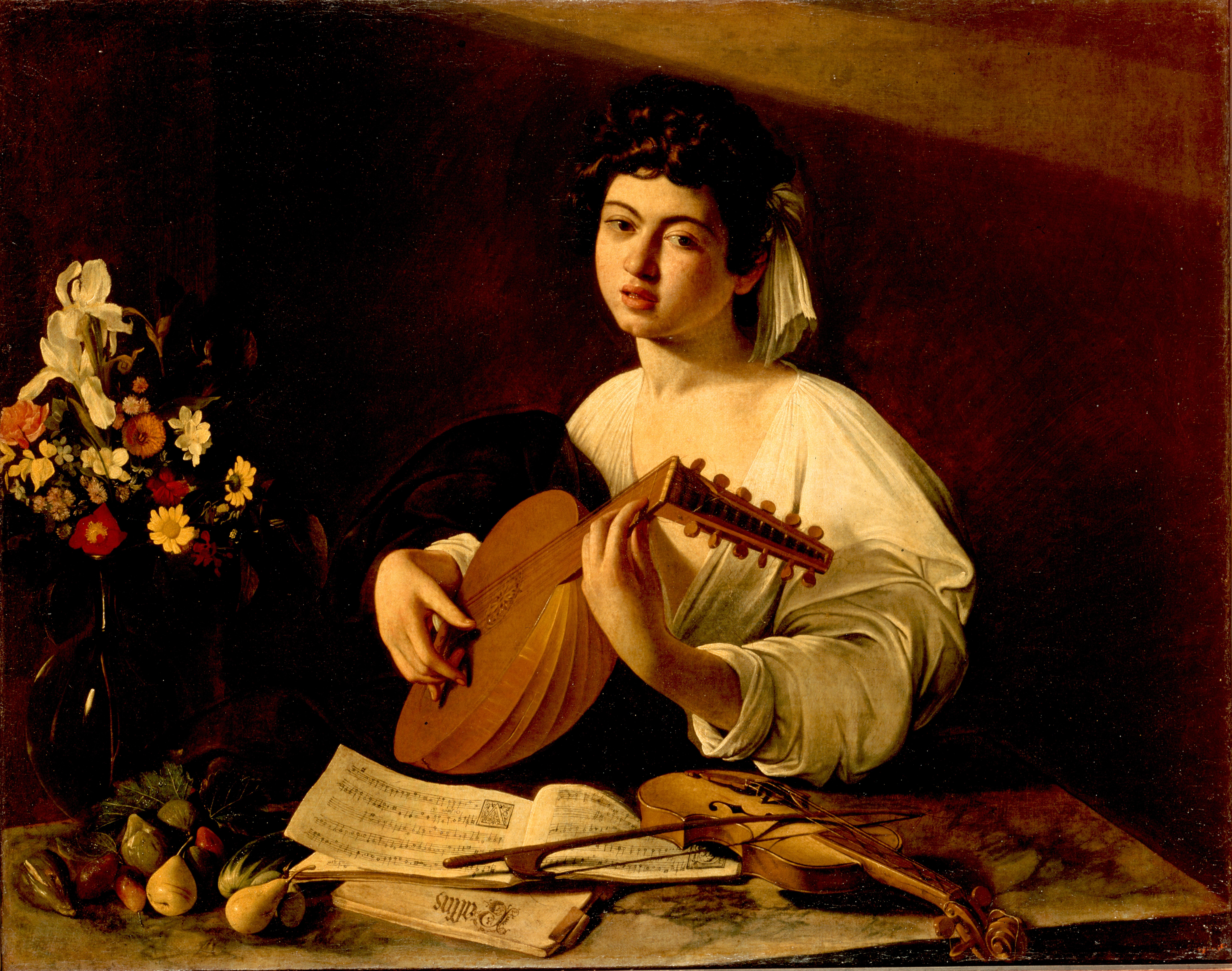 der lautenspieler erstfassung 159596 staatliche eremitage sankt petersburg - Michelangelo Lebenslauf