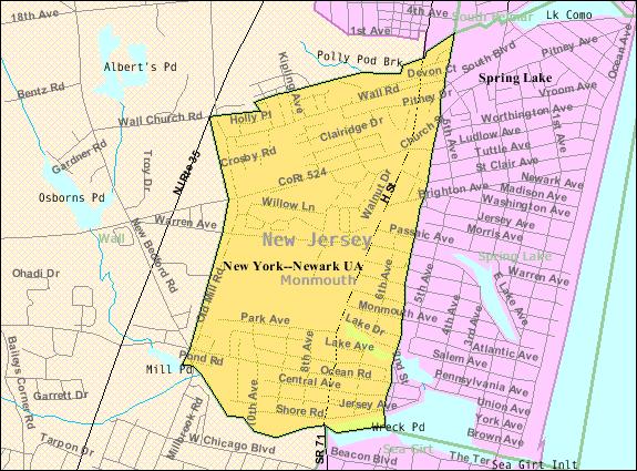 map of spring lake nj File Census Bureau Map Of Spring Lake Heights New Jersey Png map of spring lake nj